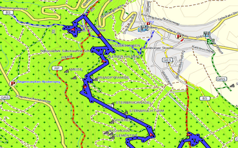 GPS-Geraet-Spruenge